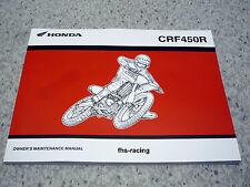 HONDA CRF 450 R , 2004 , Werkstatthandbuch Owners Maintenance Manual Einzelstück