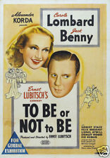 To be or not to be Carole Lombard vintage movie poster