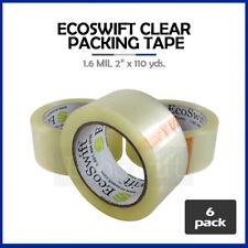 6 Rolls Carton Box Sealing Packaging Packing Tape 16mil 2 X 110 Yard 330 Ft