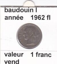 BF 3 )pieces de 1 francs  baudoui 1   1962  belgie  voir descrition