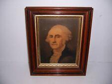 Vintage Framed George Washington Print on Canvas