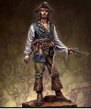 75mm Scale Pirates of the Caribbean Jack Unpainted Resin Model Kit Figure Free S