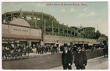 DERBY RACES Revere Beach Massachusetts PC Postcard AMUSEMENT PARK 1911 Ride MA