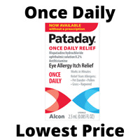 Pataday Once Daily Eye Allergy Itch Relief Eye Drops, 2.5 ml - New - Free S&H