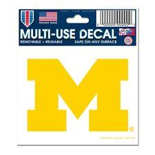 "Michigan Wolverines 3""x4"" Car Decal [NEW] NCAA Static Cling Auto Emblem Sticker"