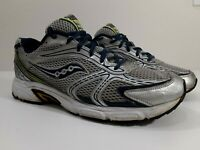 Saucony Mens Grid Oasis Running Shoes Gray Blue 25096-2Size 11