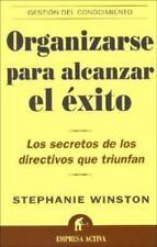 Organizarse Para Alcanzar El Exito / Organized for Success (Spanish-ExLibrary