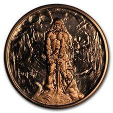 1 onza copper round Frank Frazetta Barbarian 999,99 avdp