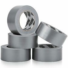 Heavy Duty Silver Duct Tape 5 Roll Multi Pack 30 Yards X 2 Inch Strong Fl