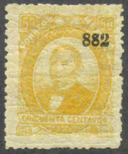 mf0363.MEXICO.1879-83.FOREIGN MAIL.50c yellow.(TUXPAN).882.MOG/HR.