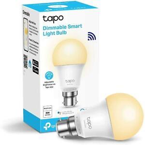 TP-Link Tapo Smart Bulb, Wi-Fi Smart Switch, B22, 8.7 W, Works with Amazon Alexa