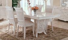 Klassischer Esstisch Küchentisch Rechteckig Perlmutt Hochglanz Möbel aus Italien