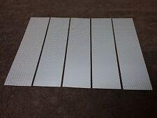 """( 5 ) Silver REFLECTIVE STRIPS sz. 8.5"""" X 2"""" Peel & Stick"""