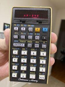 Hewlett-Packard HP-34E Panamatik Calculator - Mint Bundle - Very Rare