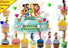 TINKERBELL Edible Cup Cake  Scene Topper Wafer Birthday Party STAND UP CUSTOM