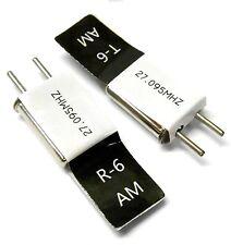 27 AM trasmettitore e Radio Rc Crystal Set 27 mhz 27.095 TX & RX Nero CH 6