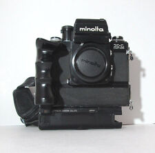 VERY RARE MINOLTA X-1 XK MOTOR BLACK 35 mm FILM SLR CAMERA BODY ONLY AS IS