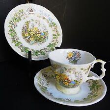 "Royal Doulton Brambley Hedge Jill Barklem 3 pc set cup saucer 6"" plate Spring"