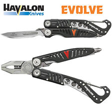 Havalon Knives Evolve Folding Multi Tool Pocket Knife Black Jim Shockey 60AMTS
