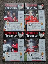 More details for manchester united champions league 1999/00 4 programmes + tickets