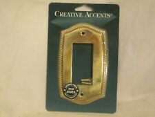 Creative Accents Solid Brass Eng. Rope S. 967Pb single light switch plate cover