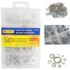 165 Washers Flat Steel Asorted Sizes Tool Rust Resistant Spring Case Listing DIY