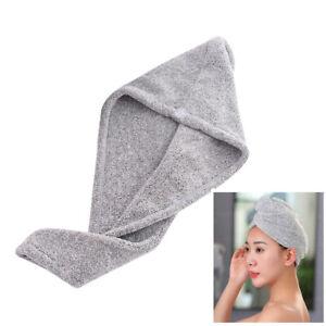 Women Girl Rapid Fast Drying Hair Absorbent Towel Head Wrap Turban Bamboo Cap