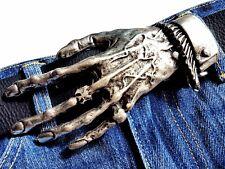 Gürtelschnalle Skull Hand Skelett Gothic Wechselschnalle Buckle Schließe 4cm
