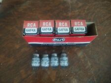 4 NOS RCA 6AF4A Vacuum Radio Tubes Test Good Strong Matching Codes