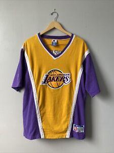 Vtg 90's Champion Lakers Shooting Shirt Warmup Sz Med Multicolor Vintage 1990's