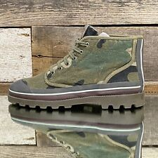 $746 Valentino Garavani  Canvas Camo High-Top Sneakers Size 44