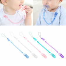 Baby Boy Girl Dummy Pacifier Soother Nipple Leash Strap Chain Clip Holder 6A