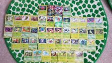 45 Pokemon trading card bundle of grass types including 1 secret rare