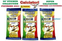 SUPER CALCIATORI PANINI 2021 LOTTO DA 3 BUSTINE 120 FIGURINE DI CUI 30 SPECIALI