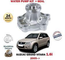 FOR SUZUKI GRAND VITARA 1.6i VVT M16A 4x4 TA74 8/2005 >NEW WATER PUMP + SEAL