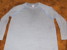 Fruit of the Loom Breathable, men's size 2Xl, gray mesh long sleeve shirt