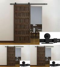 Lot3~6Ft Black Modern Barn Wood Steel Sliding Door Hardware Closet Set Wholesale