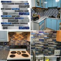 1X Wall Stickers Kitchen Art 3D Peel & Stick Self-Adhesive Wall Backsplash Tiles