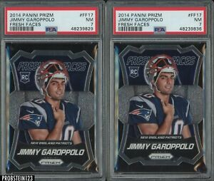 Investor Lot Of (2) 2014 Panini Prizm Fresh Faces Jimmy Garappolo RC PSA 7