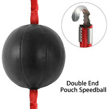 Double End Punching Boxing Speed Ball Striking Solid Leather MMA Training Kit PU