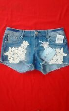 New listing Almost Famous Jean Shorts ~ Nwt 7 Medium Wash Lace