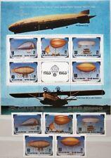 KOREA 1982 2301-05 Block 134 2249a-e 2249 Luftfahrt Aviation Airships Luftschiff