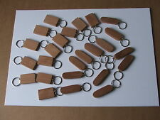 BLANK MAHOGANY/SAPELE KEYRINGS-24 in pack-pyrography,painting etc-£9.95incl post