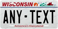 WISCONSIN License Plate Novelty Personalized w/ Any Text for Auto ATV Bicycle