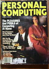magazine, nostalgic, collectible, Personal Computing 1984-05