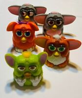 FURBY PLASTIC FIGURES - 1998 McDONALDS HAPPY MEAL TOYS - LOT OF 5