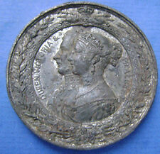 United Kingdom QUEEN VICTORIA  PRINCE ALBERT LONDON EXHIBITION 1851 TIN MEDAL