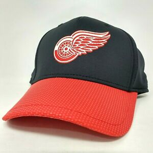 Detroit Red Wings NHL Hockey Cap - Youth One Size, Black/Red