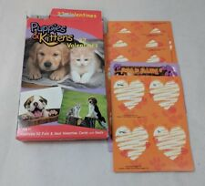 PAPER MAGIC GROUP Puppies & Kittens 32 Valentines Open Box No Seals