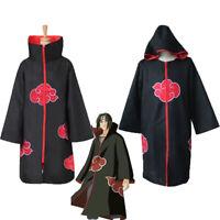 Animer Cosplay Costume Akatsuki itachi Cloak Superior Quality Anime Convention3C